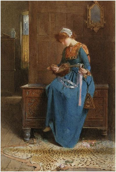 British Paintings Carlton Alfred Smith The Mandolin Player