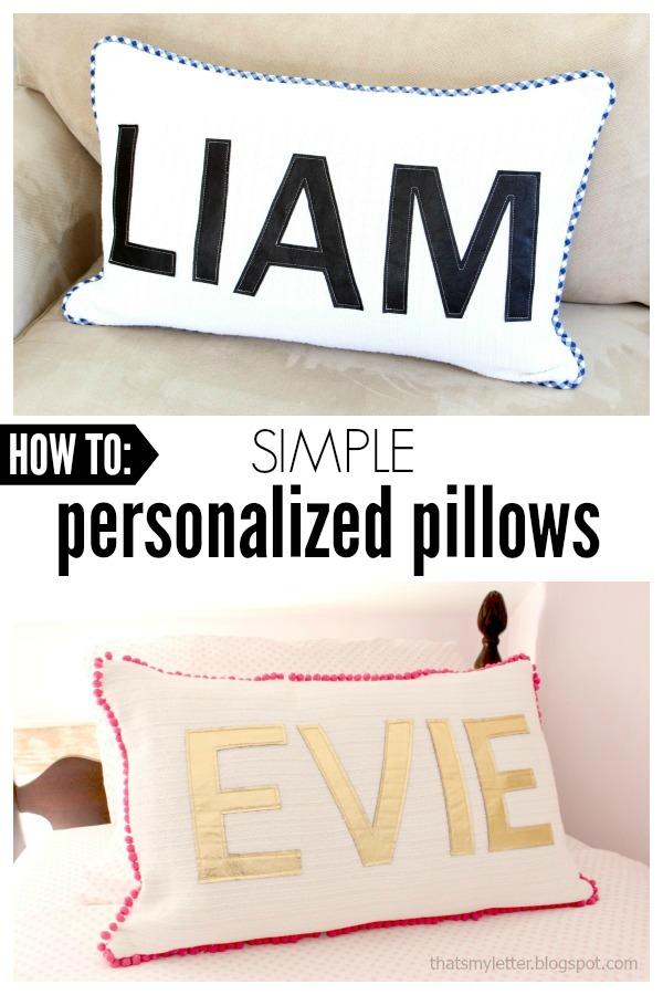 diy simple personalized pillows jaime