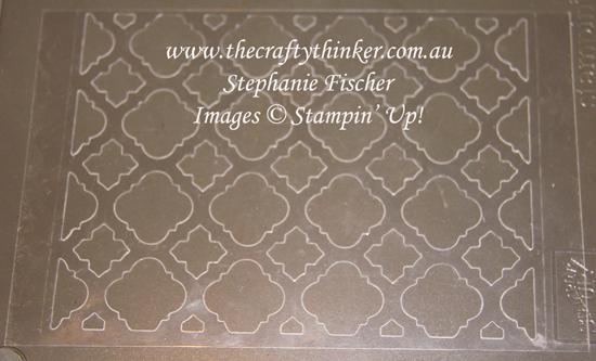 #thecraftythinker #stampitinkitbloghop #petalpalette #florentinedie #cardmakingtechniques #cardmaking ,Florentine Thinlit, making a stencil, Ink It Stamp It Blog Hop, Selective Stamping, Stampin' Up Australia Demonstrator, Stephanie Fischer, Sydney NSW