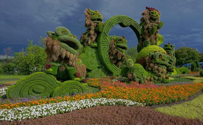 Mosaïcanada 150 / Gatineau 2017 Mosaicultura, esculturas vegetales