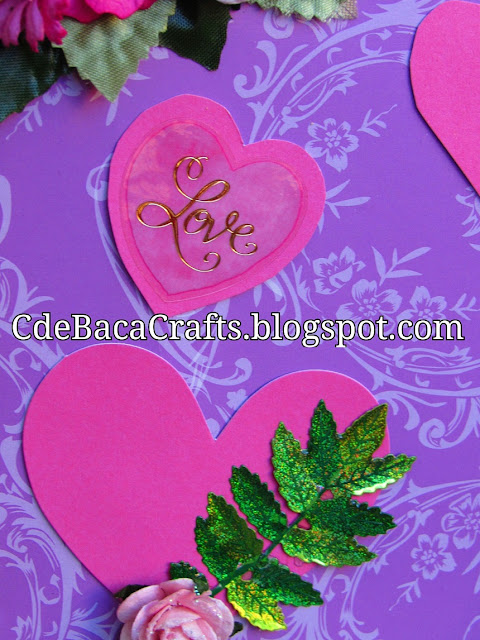 Handmade Valentines Day Card by CdeBaca Crafts.