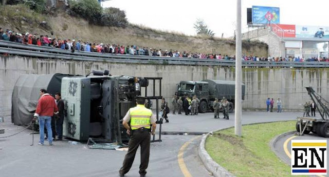 accidente camion militar ambato