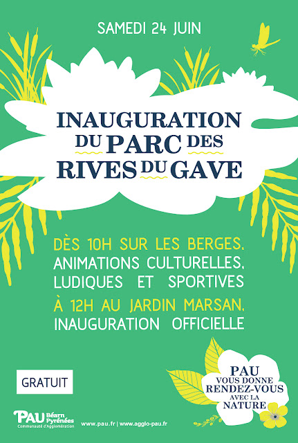 Pau : Inauguration du parc des Rives du Gave 2017