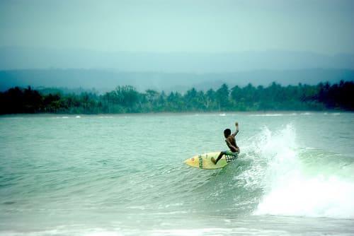 Batu Karas beach is located