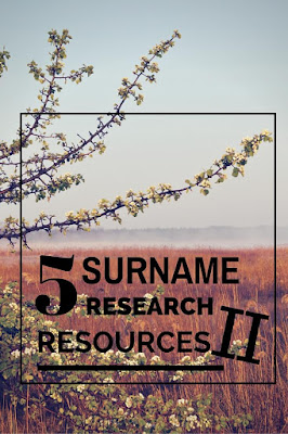 5 Online Surname Origin Research Resources from Desperately Seeking Surnames