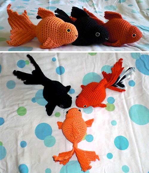Free Amigurumi Goldfish Pattern : Beautiful Skills - Crochet Knitting Quilting : Fancy ...