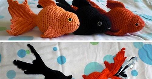 Fancy Goldfish Amigurumi By Kate Wood - Free Crochet Pattern ... | 262x500