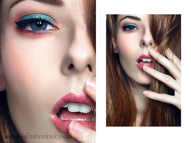 Maquillaje de tarde en tono turquesa con sombras de KIKO.