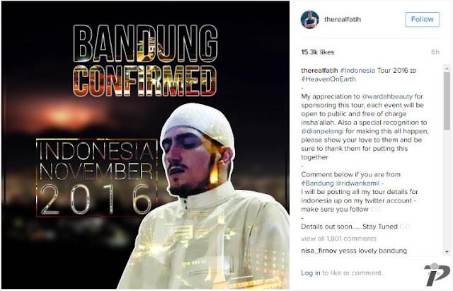 Qari Fatih Seferagic Dipastikan Datang ke Indonesia