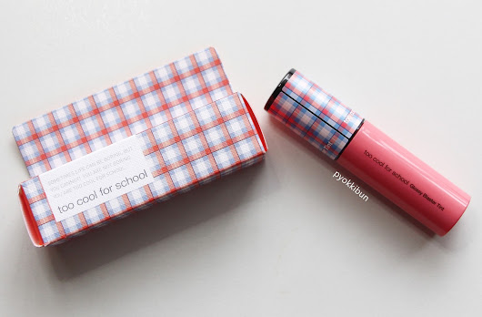 ♥ Pyokkibun ♥: Review: Too Cool For School Check Glossy Blaster Tint in #4 Posh Coral