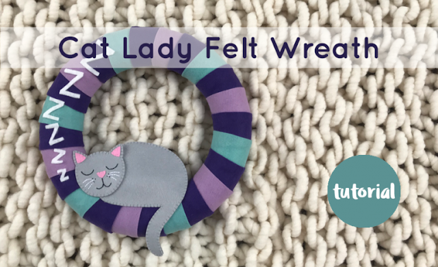 A Year of Wreaths: October Cosy Cat Felt Wreath