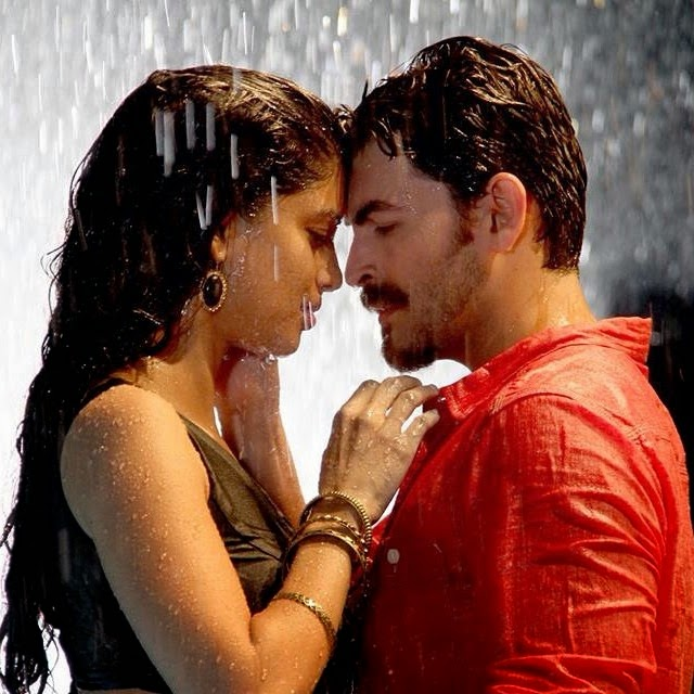dus sehr a , movie , song , shoot , # bollywood mumbai , neil nitin mukesh , n m , tena desae , actors , rain ,, Tena Desae Hot Pics In Movies