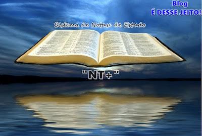 """Imagem da PALAVRA de DEUS Aberta em meio ao Céu, anunciando o início do Sistema de Notas+ de Estudo, """"NT+"""""""