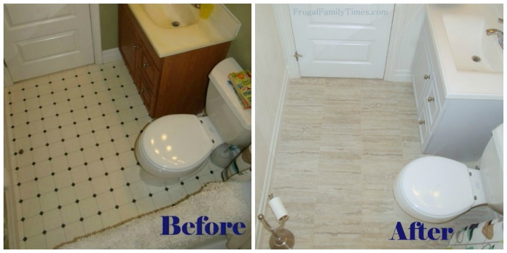 how to install peel and stick vinyl tile (that you can grout
