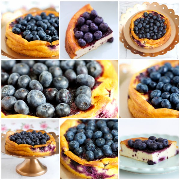 Blueberry-Cheesecake, Heidelbeeren, Blaubeeren