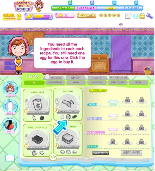 Cooking Mama Facebook Game Review