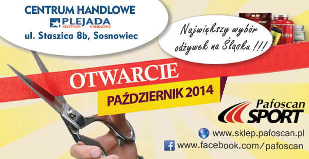 Centrum Handlowe Plejada - Sosnowiec - Pafoscan Sport