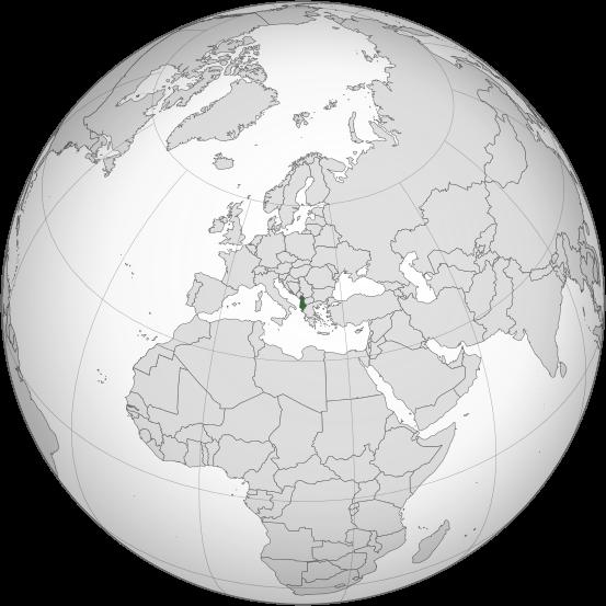 Letak negara Albania