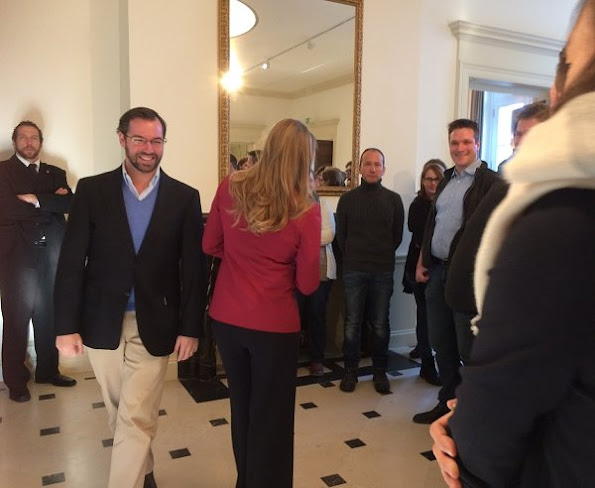 """Hereditary Grand Duke Guillaume and Hereditary Grand Duchess Stéphanie of Luxembourg visited """"De Mains de Maître"""" exhibition"""