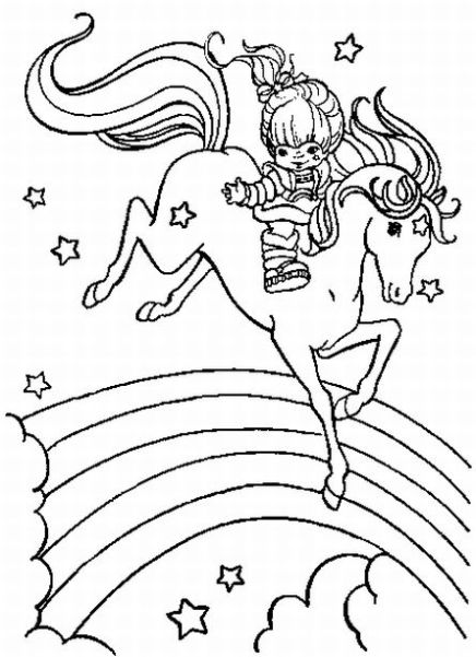 Coloring pages rainbow brite ~ Rainbow Bright Coloring Pages | Team colors