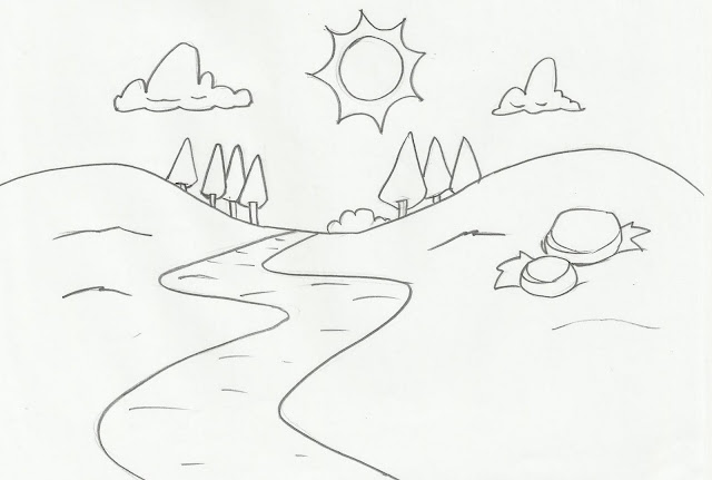 Desenho De Paisagem Imagui