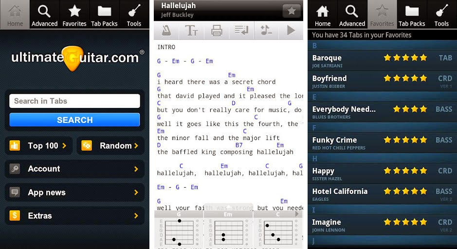 ultimate guitar tabs and chords apk v 3 9 1 is a great application that gives you access to 600k
