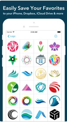 برنامج تصميم شعارات للايفون Logo Maker