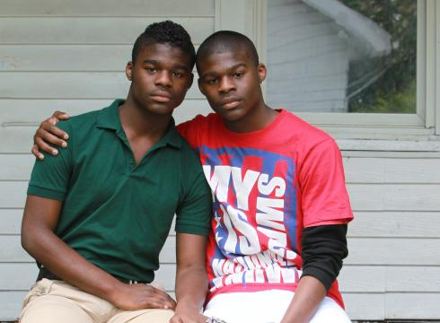 Gay black teen boy