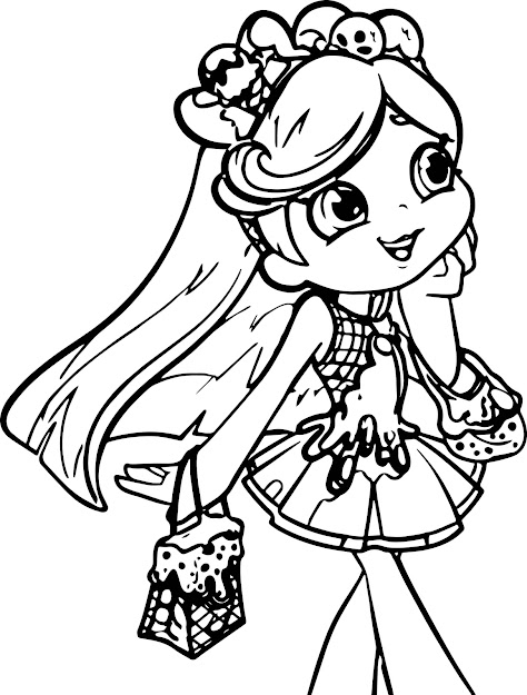 Shopkins Girl Coloring Page