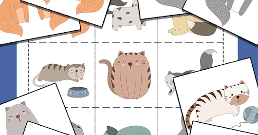 Cat Matching Memory Game for Kids {Free Printable}
