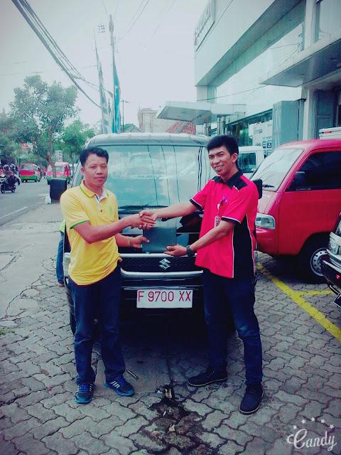 penyerahan kendaraan suzuki atas nama Cecep Sarip Hidayat futura pickup