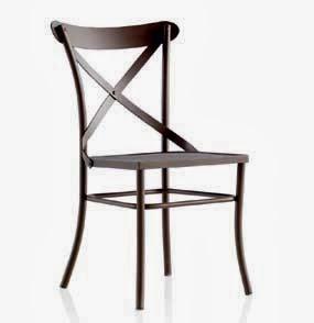 silla cruces en forja, silla comedor, silla para salon, silla de cocina