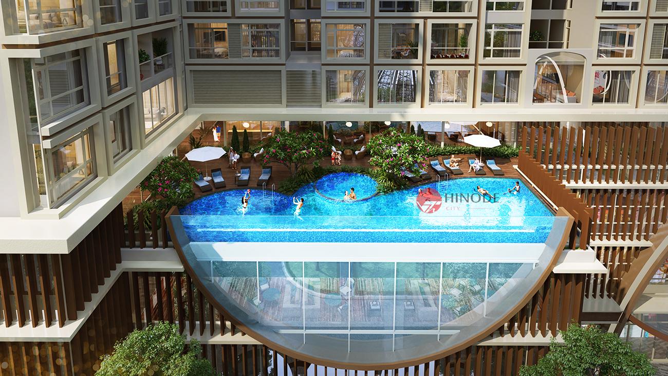 Bể bơi của dự án Hinode Minh Khai