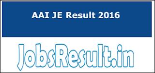 AAI JE Result 2016