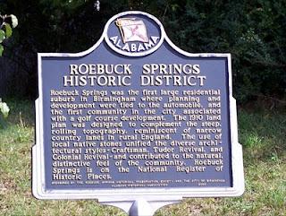 Roebuck Spring Historic District information board