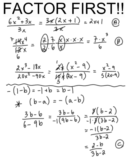 Simplifying Rational Expressions Worksheets Free ...