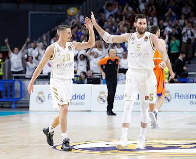 Cronica :Real Madrid 111-99 Valencia Basket : Siete victorias seguidas en Euroliga