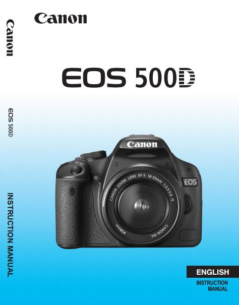 Download canon eos 500d eos rebel t1i pdf user manual guide.