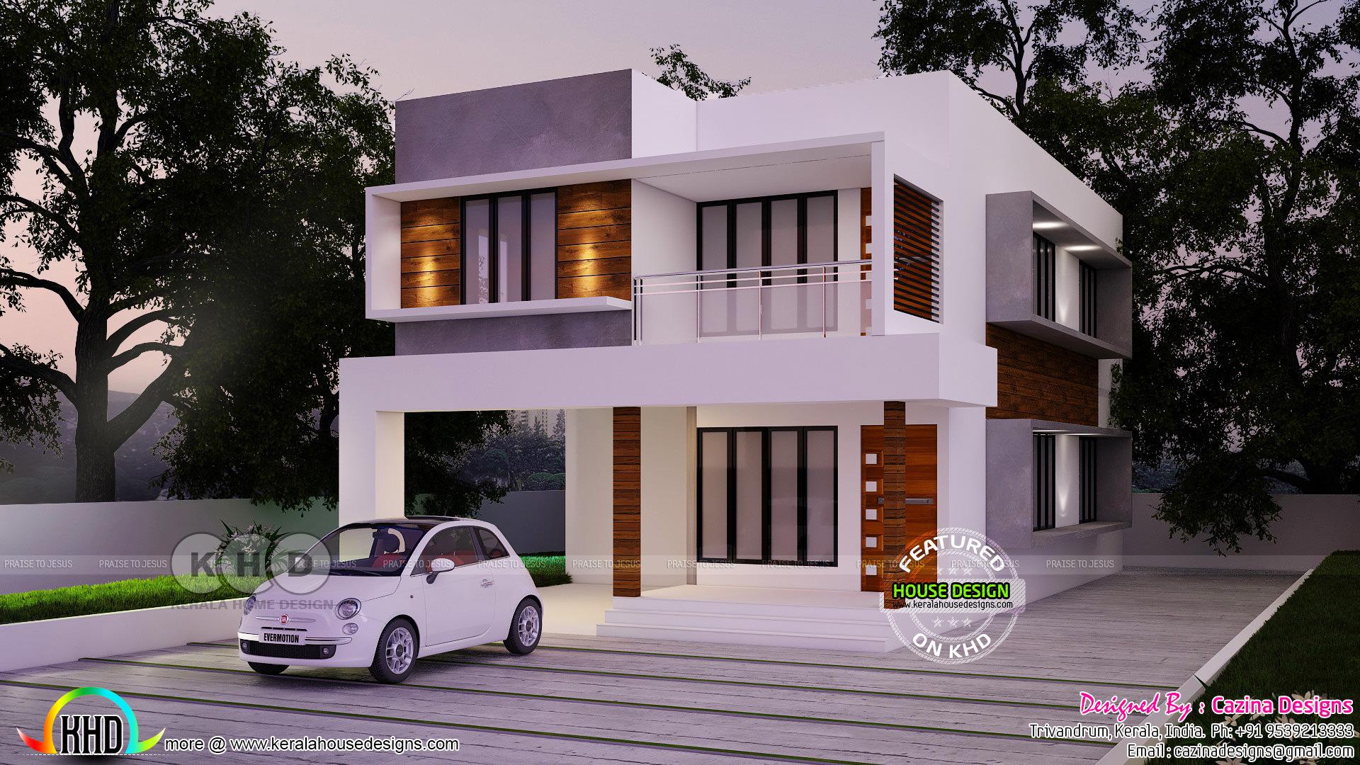 Cute 4 bhk modern home design kerala home design and for 4 bhk home design