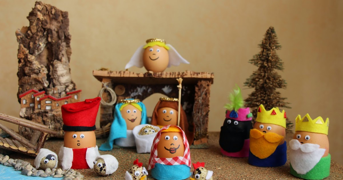 Mardefiesta pesebre hecho con huevos - Belen navidad manualidades ...