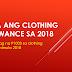 6K na ang clothing allowance sa 2018