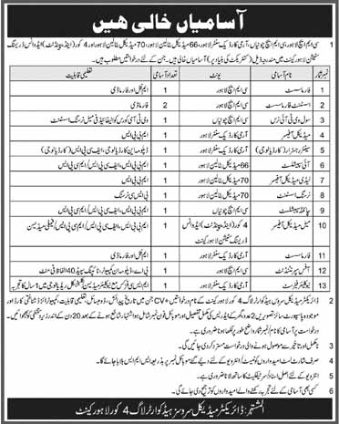 CMH Cantt Lahore 12 May 2019 Jobs