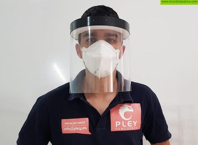 Una empresa de la capital elabora y distribuye caretas de protección contra el coronavirus