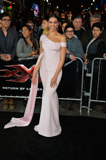 Deepika Padukone in Light Pink Gown by Ralph and Russo at L.A. Premier of :Return of Xander Cage