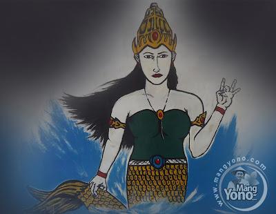 Ilustrasi : Putri Duyung. Lukisan di tembok/dinding by Adik Ipar