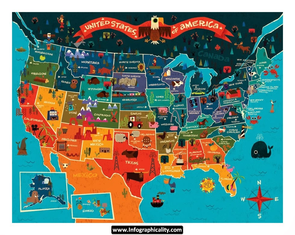 Largest Source of Immigration in Each State (ex-Mexico) The Big - cereal box book report sample