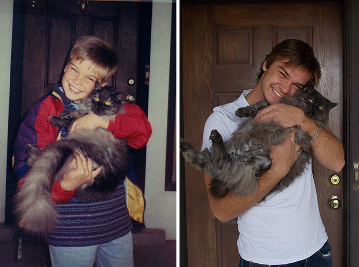 30 Beautiful Recreations Of Childhood Pictures - 15 Years Later, Me And My Friend Are Still Together
