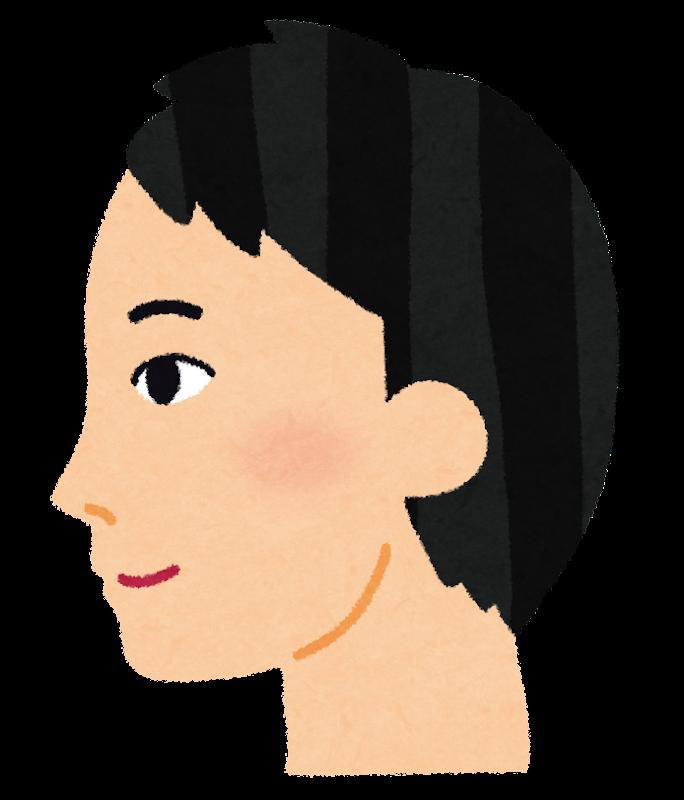 アジア人男性の横顔のイラスト かわいいフリー素材集 いらすとや