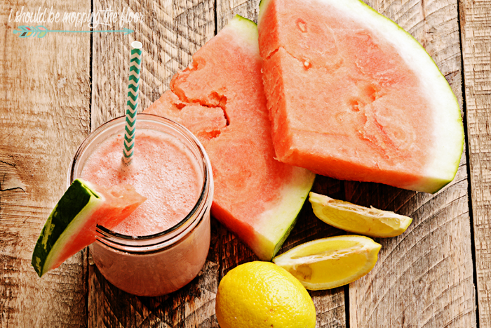 Watermelon Smoothie: a healthy, delicious summery treat.