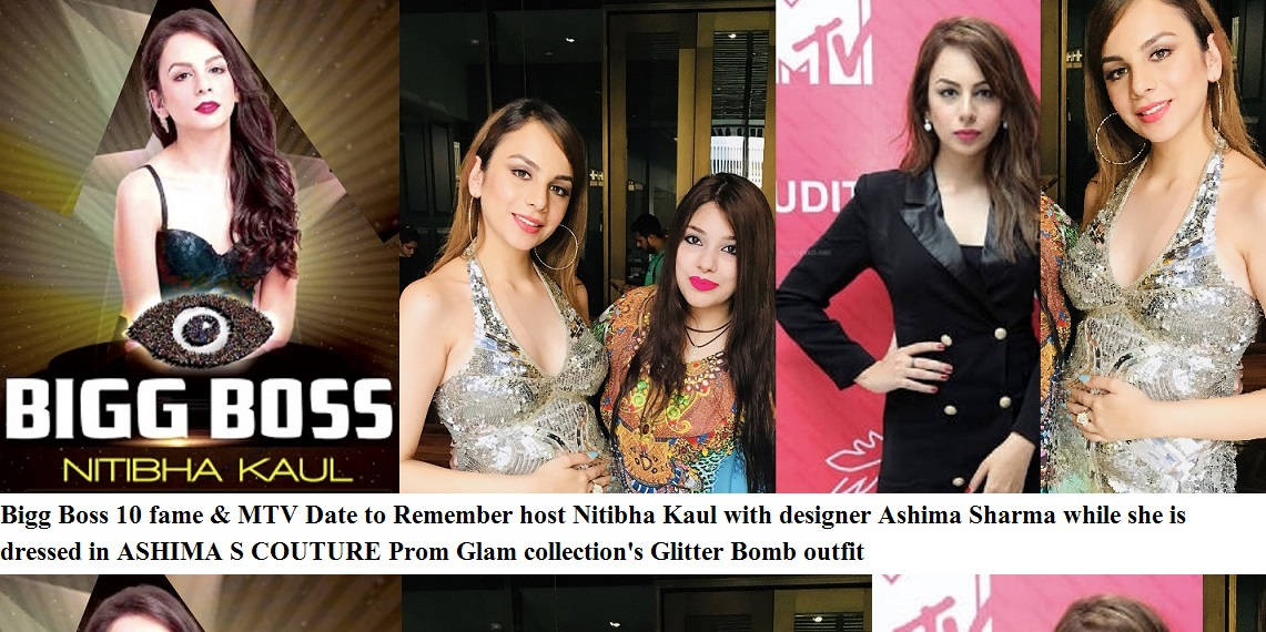 Nitibha Kaul Dressed In Designer Ashima S Couture By Ashima Sharma Outfits